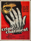"""Movie Posters:Foreign, Crime and Punishment (Pathe Consortium Cinema, 1956). French Grande (47"""" X 63""""). Foreign.. ..."""