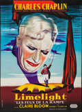 "Movie Posters:Drama, Limelight (United Artists, R-1960s). French Grande (45"" X 61"").Drama.. ..."