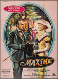 "Movie Posters:Foreign, Maxime (Cocinor, 1958). French Grande (46.25"" X 62.5""). Foreign.. ..."