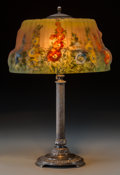 Art Glass:Other , A Pairpoint Puffy Hollyhock Lamp, New Bedford,Massachusetts, circa 1910. Marks to base: (P-diamond),E3056... (Total: 2 Items)