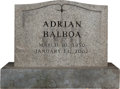 "Movie/TV Memorabilia:Props, A Prop Headstone from ""Rocky Balboa"" (aka ""Rocky VI"").... (Total: 3Items)"