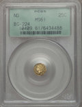 California Fractional Gold , Undated 25C Liberty Round 25 Cents, BG-224, R.3, MS61 PCGS. PCGSPopulation (20/165). NGC Census: (2/43). ...