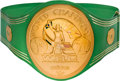 "Boxing Collectibles:Memorabilia, 1970's Muhammad Ali WBC Heavyweight Championship Belt Earned in Victory over George Foreman in the ""Rumble in the Jungle."". ..."