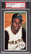 Baseball Cards:Singles (1960-1969), 1964 Topps Giants Roberto Clemente #11 PSA Gem Mint 10 - Pop Three!...