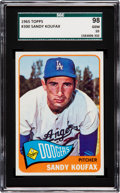 Baseball Cards:Singles (1960-1969), 1965 Topps Sandy Koufax #300 SGC 98 Gem 10 - The Ultimate SGCExample! ...