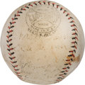 Baseball Collectibles:Balls, 1924 World Tour Baseball Signed by Chicago White Sox & New York Giants Teams. ...