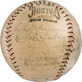 Baseball Collectibles:Balls, 1922 Tour of Japan Team Signed Baseball - Only Known Example....