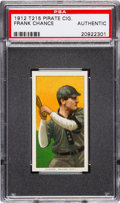 Baseball Cards:Singles (Pre-1930), 1912 T215 Pirate Cigarettes Frank Chance PSA Authentic. ...
