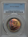 Kennedy Half Dollars, 1964 50C MS65 PCGS. PCGS Population (2550/1387). NGC Census:(4082/1063). Mintage: 273,300,000. ...