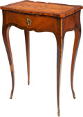 Furniture : French, A Louis XV-Style Marquetry and Kingwood Side Table, 19th century.27-1/2 h x 17-5/8 w x 11-3/4 d inches (69.9 x 44.8 x 29.8 ...