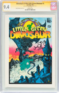 Bronze Age (1970-1979):Alternative/Underground, The Adventures of the Little Green Dinosaur #1 Signature Series (Last Gasp, 1972) CGC NM 9.4 White pages....