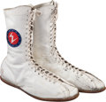 Boxing Collectibles:Memorabilia, 1975 Muhammad Ali Fight Worn Shoes from Chuck Wepner Bout....