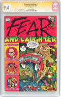Bronze Age (1970-1979):Alternative/Underground, Fear and Laughter #1 Signature Series (Kitchen Sink, 1977) CGC NM 9.4 White pages....