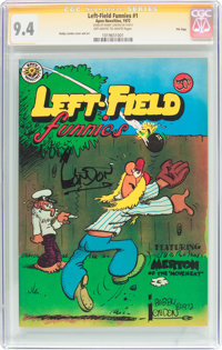 Left-Field Funnies #1 Signature Series (Apex Novelties, 1972) CGC NM 9.4 Off-white to white pages