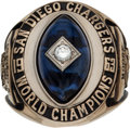 Football Collectibles:Others, 1963 San Diego Chargers AFL Championship Ring Presented to Tackle Fred Moore....