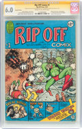 Bronze Age (1970-1979):Alternative/Underground, Rip Off Comix #1 Signature Series (Rip Off Press, 1977) CGC FN 6.0 Cream to off-white pages....