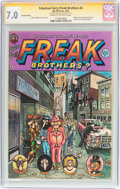 Bronze Age (1970-1979):Alternative/Underground, The Fabulous Furry Freak Brothers #4 Signature Series (Rip Off Press, 1975) CGC FN/VF 7.0 Cream to off-white pages....