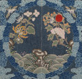 Asian:Chinese, A Chinese Framed Silk Embroidered Buzi Badge. 8-1/4 inches high x8-3/4 inches wide (21.0 x 22.2 cm) (badge). 17 inches high...