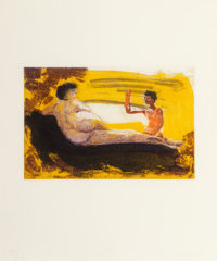 Eric Fischl (American, b. 1948) Puppet Tears, 1985; Untitled, 1988 (two works) Aquatint, sugarlift