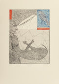 Fine Art - Work on Paper:Print, Italo Scanga (American, 1932-2001). Sacrificial Lamb, 1981. Etching with aquatint in colors on wove paper. 26-3/4 x 19-3...