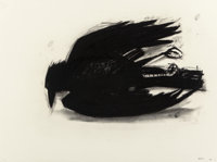 David Bates (American, b. 1952) Study for Crow, 1988 Charcoal on paper 22-1/4 x 29-7/8 inches (56