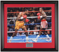 Autographs:Bats, Sugar Ray Leonard and Thomas Hearns Signed Oversized Photograph....