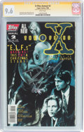 Modern Age (1980-Present):Science Fiction, X-Files Annual (1995) #2 Signature Series (IDW Publishing, 1996)CGC NM+ 9.6 White pages....