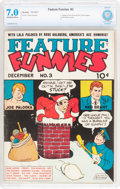 Golden Age (1938-1955):Humor, Feature Funnies #3 (Chesler, 1937) CBCS FN/VF 7.0 Off-white to white pages....