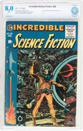 Golden Age (1938-1955):Science Fiction, Incredible Science Fiction #33 (EC, 1956) CBCS VF 8.0 Whitepages....