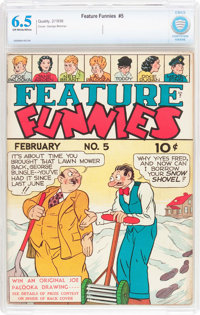Feature Funnies #5 (Chesler, 1938) CBCS FN+ 6.5 Off-white to white pages