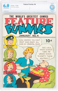 Feature Funnies #4 (Chesler, 1938) CBCS FN 6.0 Off-white to white pages