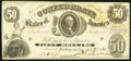 Confederate Notes:1861 Issues, T8 $50 1861 PF-4 Cr. 18.. ...
