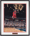 Basketball Collectibles:Photos, Michael Jordan UDA Facsimile Photograph....