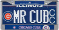 "Baseball Collectibles:Others, 2000's Ernie Banks Personally Owned ""Mr. Cub"" License Plate. ..."