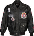 Baseball Collectibles:Others, 1990's Ernie Banks Personally Owned Negro Leagues Leather Jacket. ...