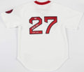 Baseball Collectibles:Uniforms, Carlton Fisk Signed Boston Red Sox Jersey....