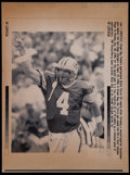 Football Collectibles:Photos, 1997 Brett Favre Original NFL MVP Press Photograph - Printed inChicago Tribune. ...