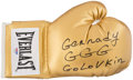 Boxing Collectibles:Autographs, Gennady Golovkin Signed Boxing Head Gear. ...