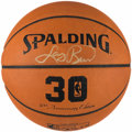 Basketball Collectibles:Balls, Larry Bird Signed Leather NBA Basketball....
