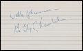 Football Collectibles:Others, Guy Chamberlain Signed Index Card....