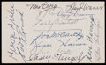 Baseball Collectibles:Others, Baseball Greats Signed Index Card....