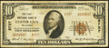 National Bank Notes:Oklahoma, Custer City, OK - $10 1929 Ty. 2 The First NB Ch. # 8727. ...