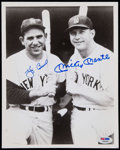 Baseball Collectibles:Photos, Yogi Berra and Mickey Mantle Signed Photograph....