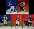 Football Collectibles:Photos, 1997 Leaf Football Greats Signed Photographs Lot of 5....