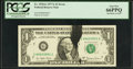 Error Notes:Ink Smears, Fr. 1910-G $1 1977A Federal Reserve Note. PCGS Gem New 66PPQ.. ...