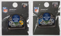 Football Collectibles:Others, 2015 Green Bay Packers, Dallas Cowboys and Detroit Lions Gameday Pins Lot of 2. ...