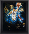 Basketball Collectibles:Photos, Stephen Curry Signed and Inscribed Oversized Print....