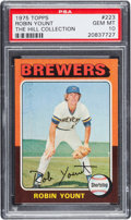 Baseball Cards:Singles (1970-Now), 1975 Topps Robin Yount Rookie #223 PSA Gem Mint 10....