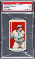Baseball Cards:Singles (Pre-1930), 1909 E92 Croft's Candy - Black Honus Wagner (Batting) PSA NM 7 -Pop One-of One With None Higher! ...