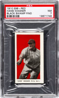 "Baseball Cards:Singles (Pre-1930), 1910 E98 ""Set of 30"" Honus Wagner - Red (Black Swamp) PSA NM 7...."